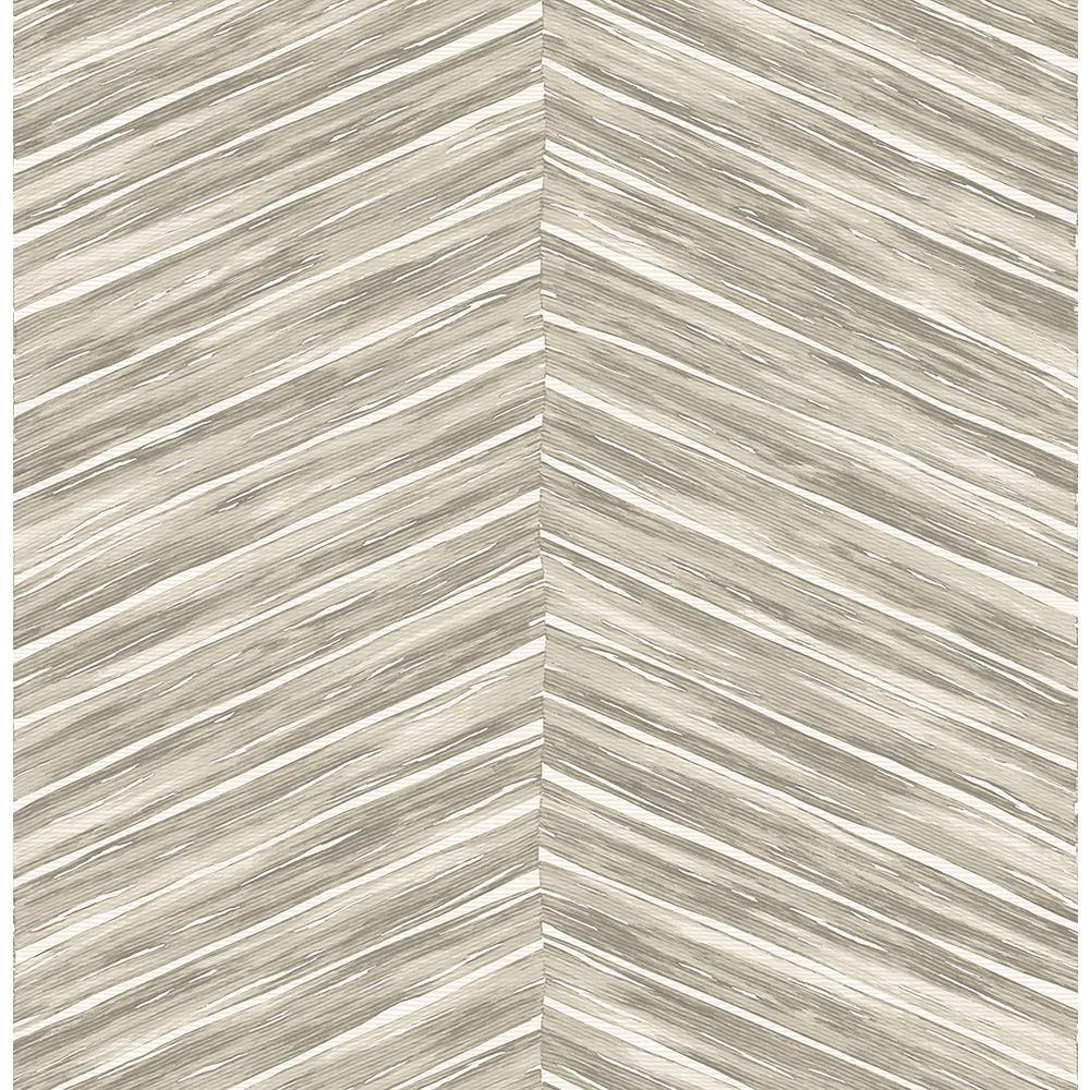 8 in. x 10 in. Pina Neutral Chevron Weave Wallpaper Sample