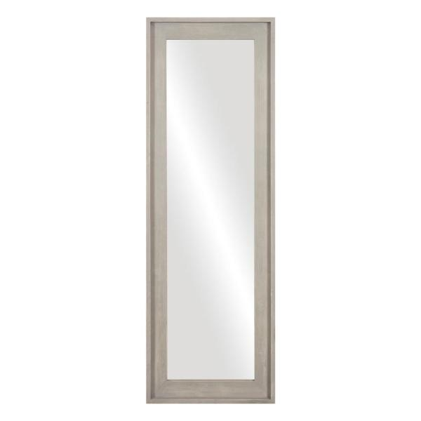 Large Rectangle Gray Hooks Mirror (56.75 in. H x 19.5 in. W)
