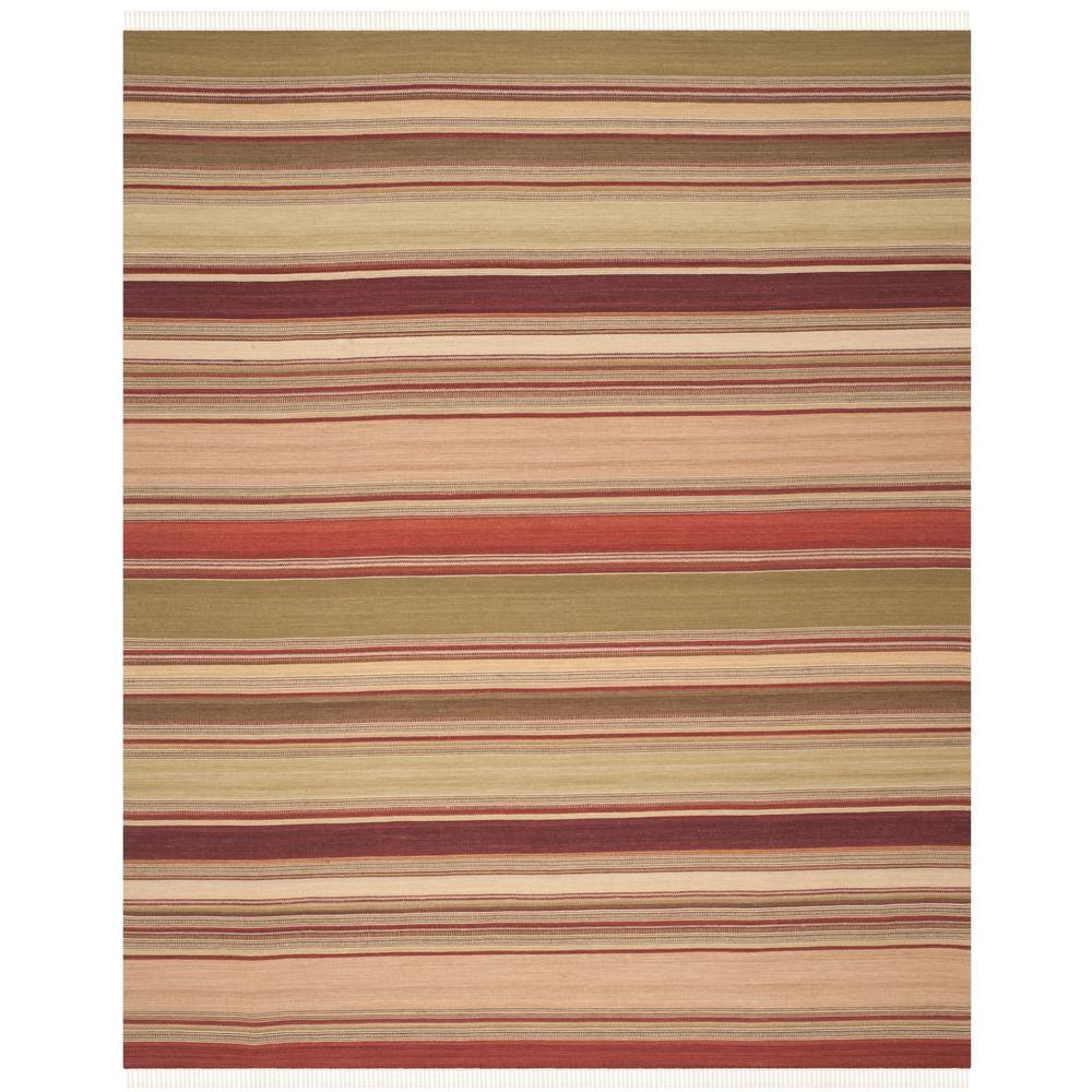 Safavieh Striped Kilim Red 10 Ft X 14 Ft Area Rug Stk313a 10 The