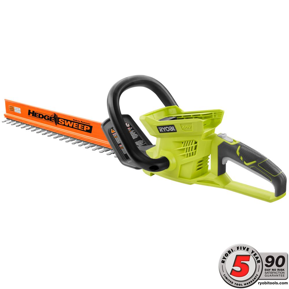 RYOBI 24 in. 40-Volt Lithium-Ion Cordless Hedge Trimmer - Battery and Charger Not Included