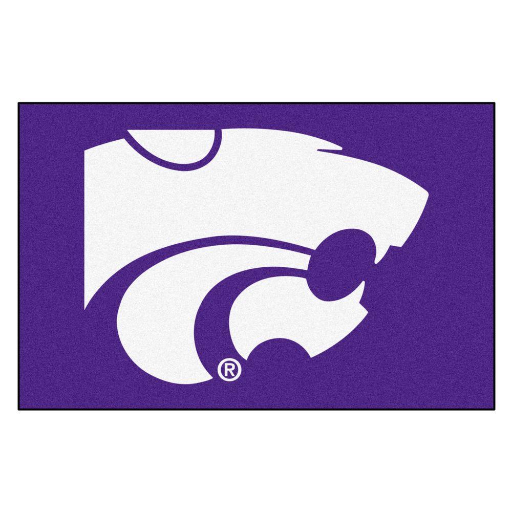 NCAA Kansas State University Purple 19 in. x 30 in. Indoor Starter Mat Accent Rug