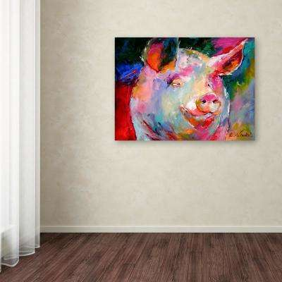 "18 in. x 24 in. ""Art Pig 1"" by Richard Wallich Printed Canvas Wall Art"