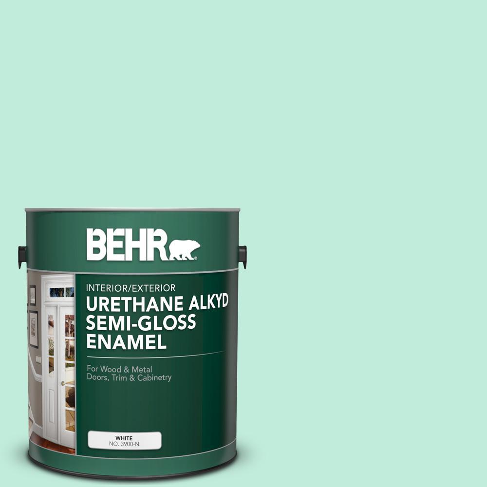 1 Gal 470a 2 Seafoam Pearl Urethane Alkyd Semi Gloss Enamel Interior Exterior Paint