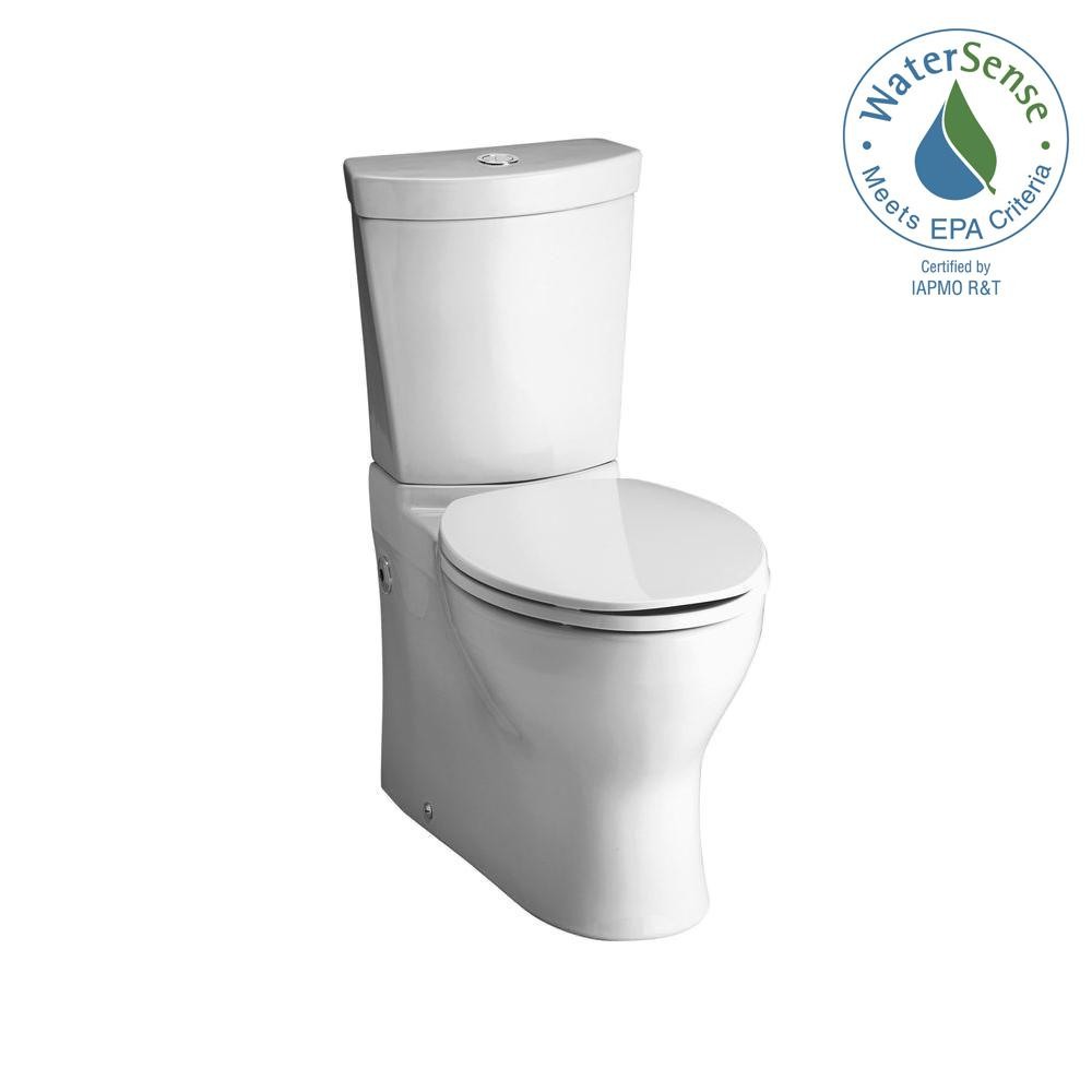 Persuade 2-piece 0.8 or 1.6 GPF Dual Flush Elongated Toilet in