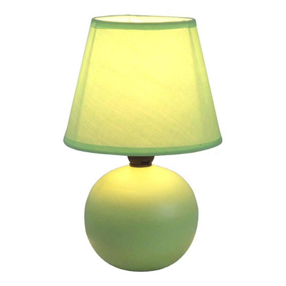 Simple designs 878 in yellow ceramic globe mini table lamp lt2008 yellow ceramic globe mini table lamp lt2008 ylw the home depot mozeypictures Choice Image
