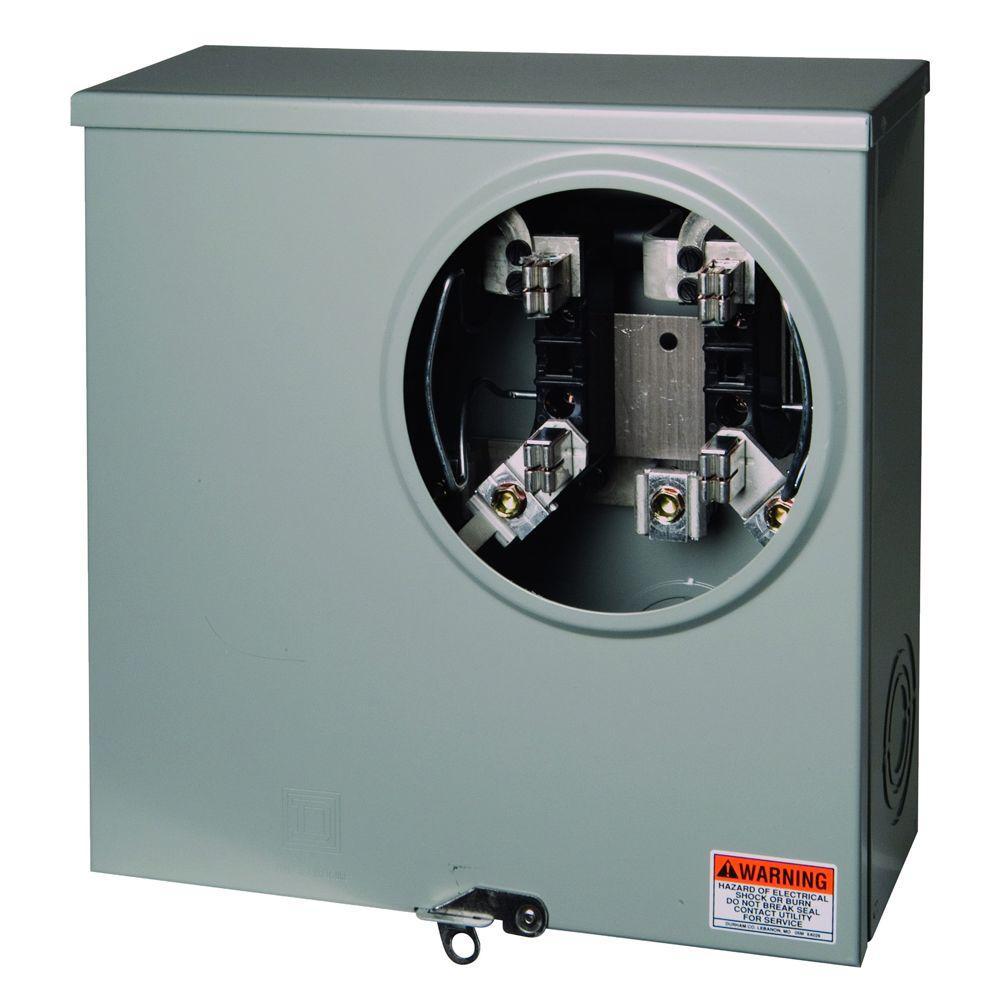 Square D 200 Amp Ringless Horn Bypass Underground Meter Socket Wiring Height