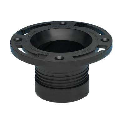 4 in. ABS Cast Iron Twist-N-Set Open Flange