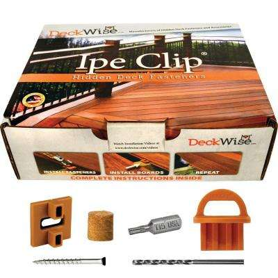 ExtremeKD Ipe Clip Brown Biscuit Style Hidden Deck Fastener Kit for Hardwoods (175-Pack)