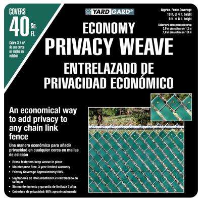 4 ft. H x 250 ft. W Green Economy Vinyl Fence Weave