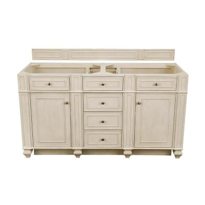 Bristol 60 in. W Bathroom Double Vanity Cabinet Only in Vintage Vanilla