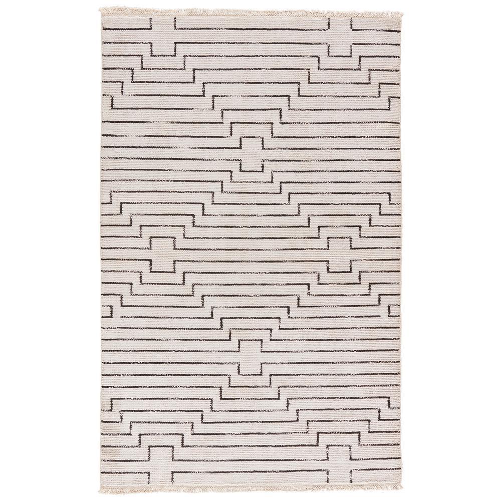 Solids/Handloom Vaporous Gray 8 ft. x 11 ft. Geometric Area Rug