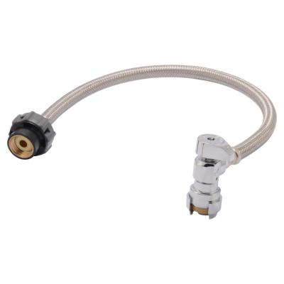 Click Seal 1/2 in. x 1/2 in. x 20 in. Push-to-Connect Angle Stop Faucet Connector