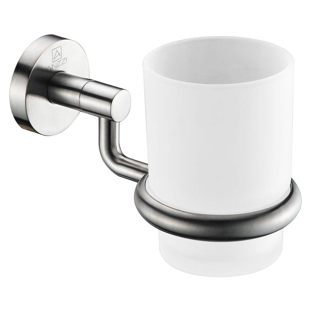 ANZZI Caster Series 7.01 in. Toothbrush Holder in Brushed Nickel
