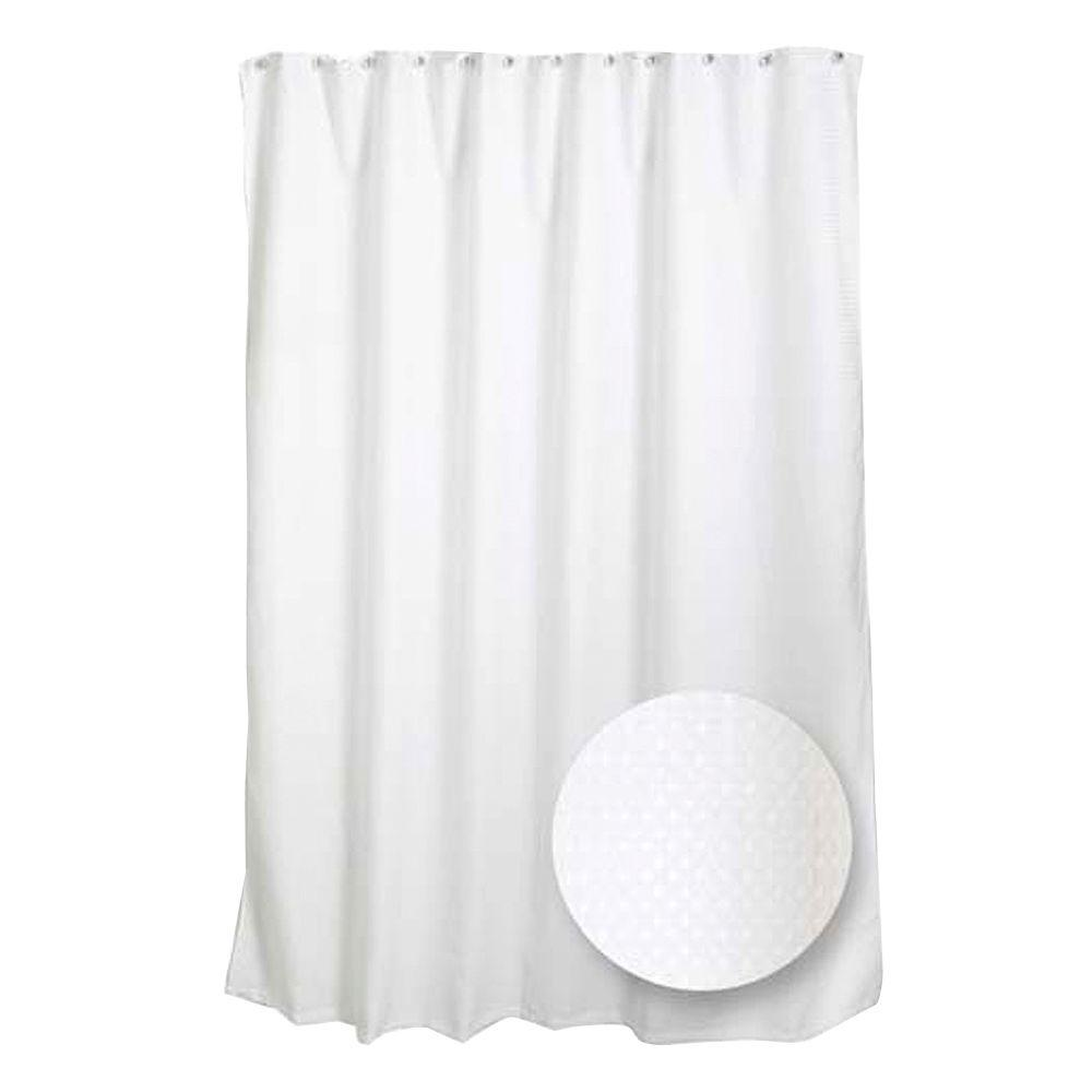 Zenna Home 70 in. W x 72 in. H Luxury Fabric Shower Curtain Liner in ...