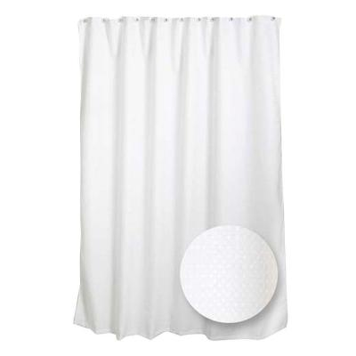 70 in. W x 72 in. H Luxury Fabric Shower Curtain Liner in White