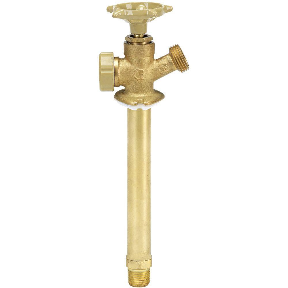 Everbilt 1/2 in. x 10 in. Brass MPT x MHT Anti-Siphon Sillcock ...