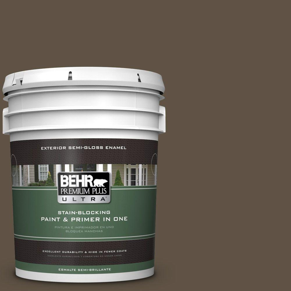 5-gal. #710D-7 Chocolate Cupcake Semi-Gloss Enamel Exterior Paint