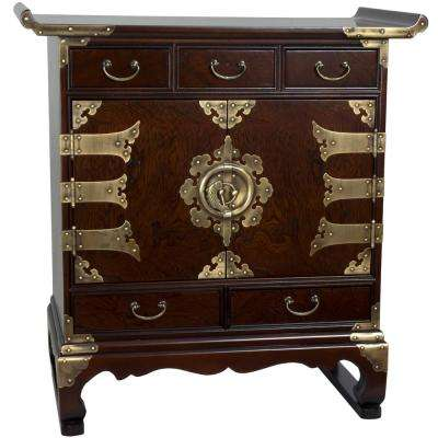 Korean Brown End Table