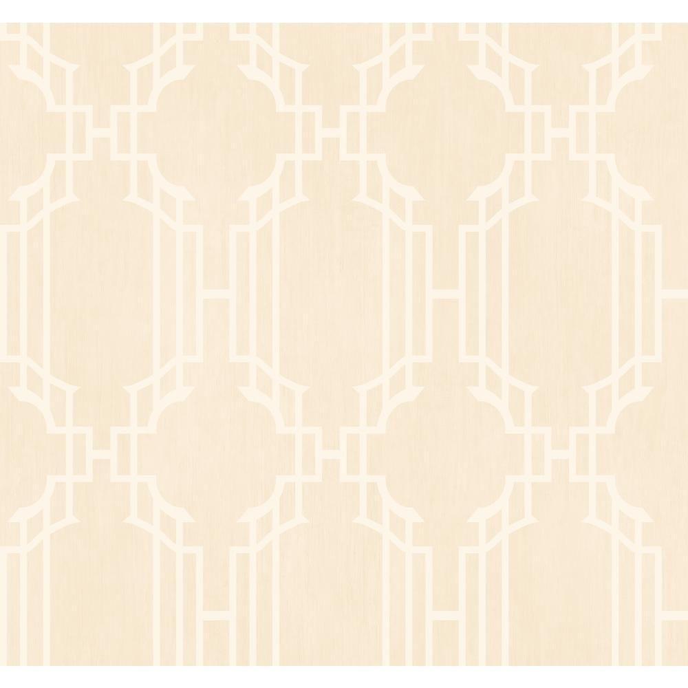 York Wallcoverings Trellis With Stripe Wallpaper