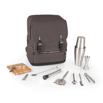 Bar-BackPack Grey Portable Cocktail Tote