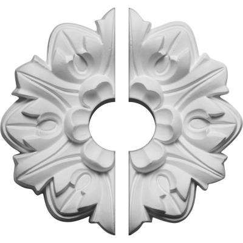 7-5/8 in. O.D. x 1-1/2 in. I.D. x 1 in. P Emery Ceiling Medallion (2-Piece)