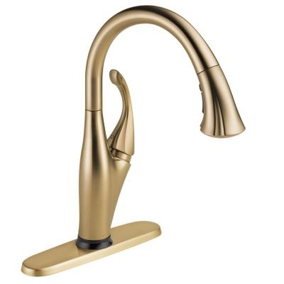 Addison Single-Handle Pull-Down Sprayer Kitchen Faucet with Touch2O Technology and MagnaTite Docking in Champagne Bronze