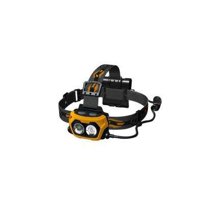 HP Series 360 Lumens AA Battery Powered LED Headlamp in Yellow