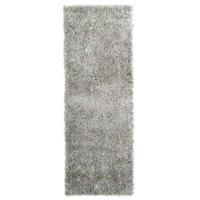 City Sheen Silver Polyester 3 ft. x 5 ft. Area Rug