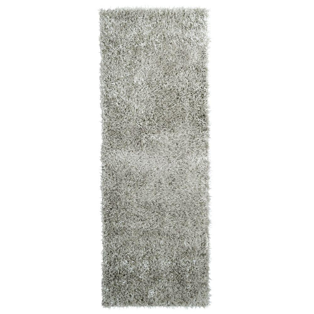 City Sheen Silver 3 ft. x 8 ft. Rug Runner