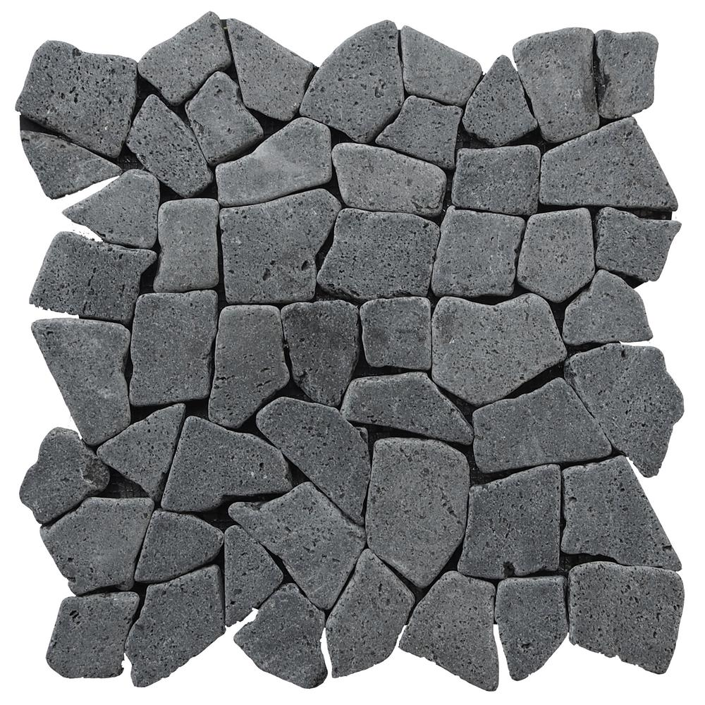Mosaic Tile Black 11-3/8 in. x 11-3/8 in. x 9.5 mm
