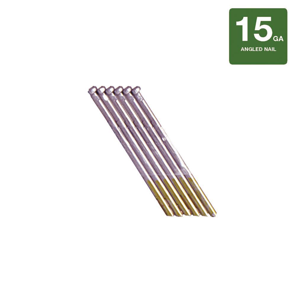 Grip rite 2 in x 16 gauge stainless steel finish nails 2500 pack 2 in x 15 gauge 316 stainless steel nails 500 pack greentooth Gallery