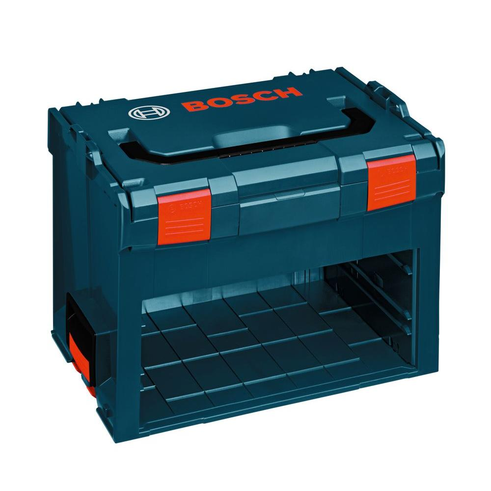 Bosch 3-Compartment Stackable Medium Tool Storage Hard Case with Space for Removable Drawers