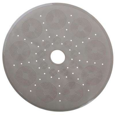 23 in. x 23 in. Essential Round Shower Mat in Tan