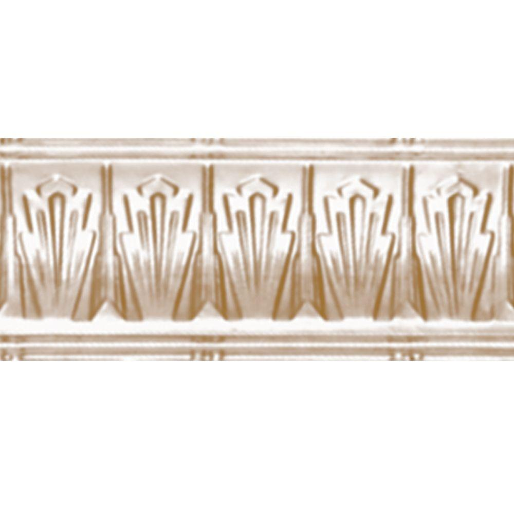 4 in. x 4 ft. x 4 in. Satin Brass Nail-up/Direct