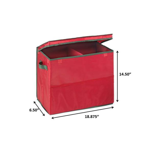 Homz 14 In Red Holiday Gift Bag Storage Box With 2 Mesh Front Pockets 5832104ec 01 The Home Depot