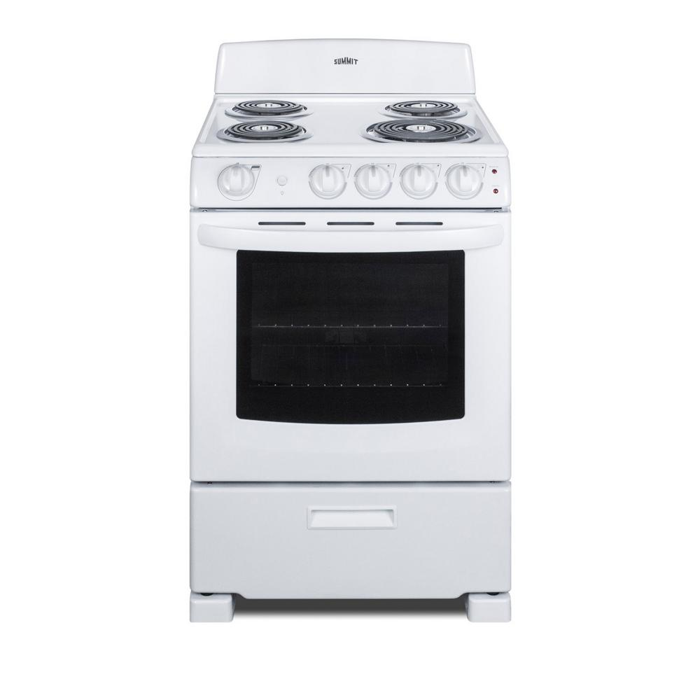 Summit Appliance 24 in. 2.9 cu. ft. Electric Range in White