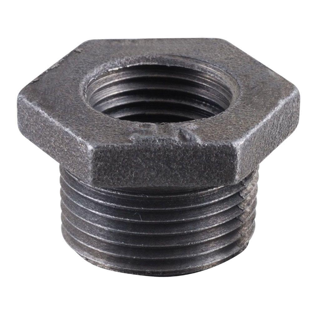 ldr industries 1 2 in x 3 8 in black iron bushing 310 b 1238 the home depot. Black Bedroom Furniture Sets. Home Design Ideas