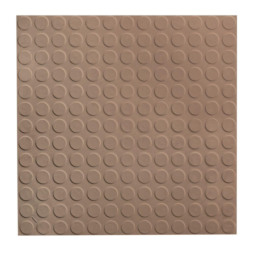 ROPPE Vantage Circular Profile 19 69 in  x 19 69 in  Fig Rubber Tile