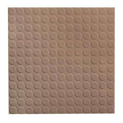 Vantage Circular Profile 19.69 in. x 19.69 in. Fig Rubber Tile