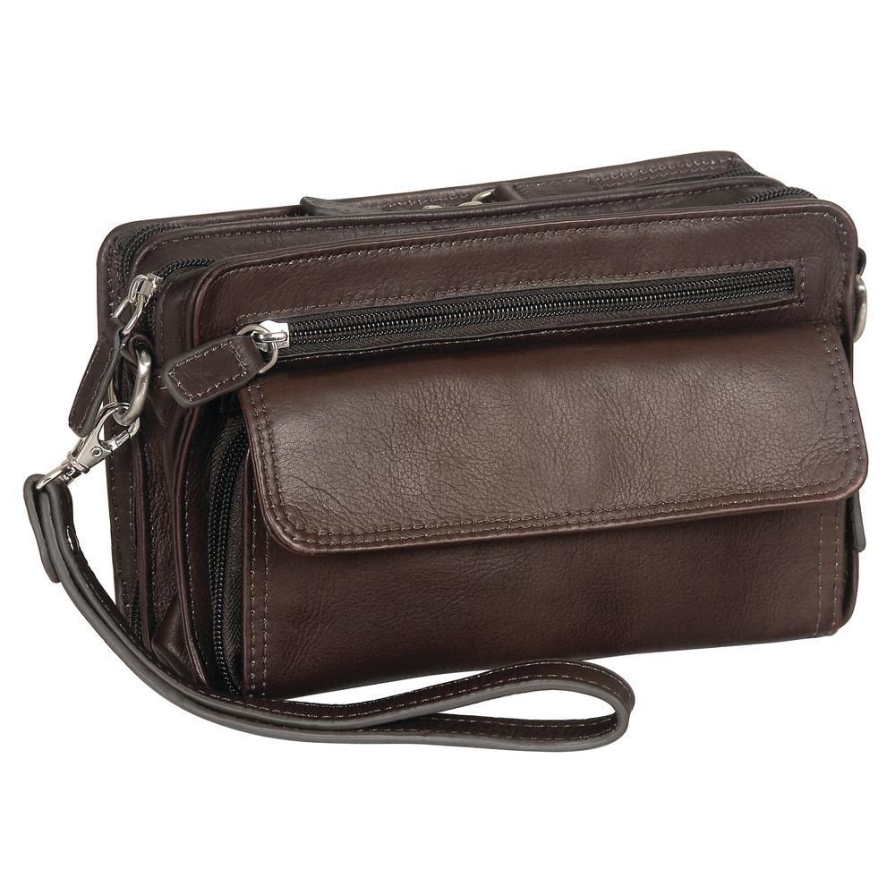 Deluxe 9 in. Brown Unisex Bag