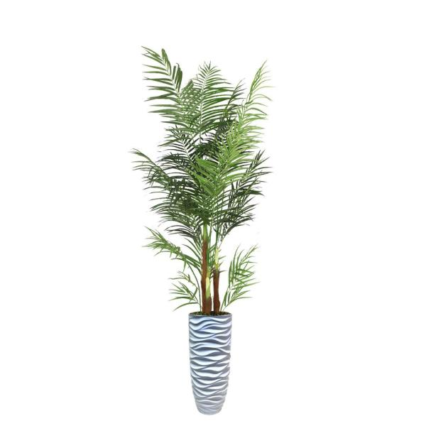 Laura Ashley 98 in. Palm Tree Artificial Faux Dcor in Resin