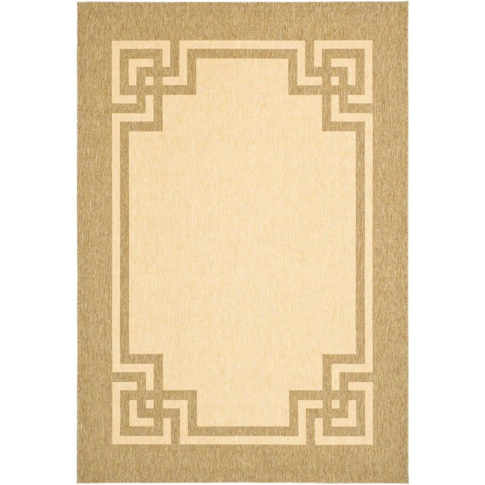 Martha Stewart Living Martha Stewart Deco Frame Sand/Coffee 8 ft. x 11 ft. 2 in. Area Rug