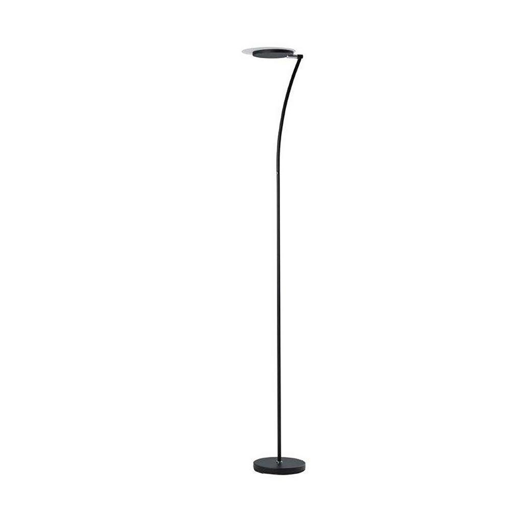 Ore International Castor 72 In Satin Black Led Torchiere Floor Lamp Ktl 7935esb The Home Depot