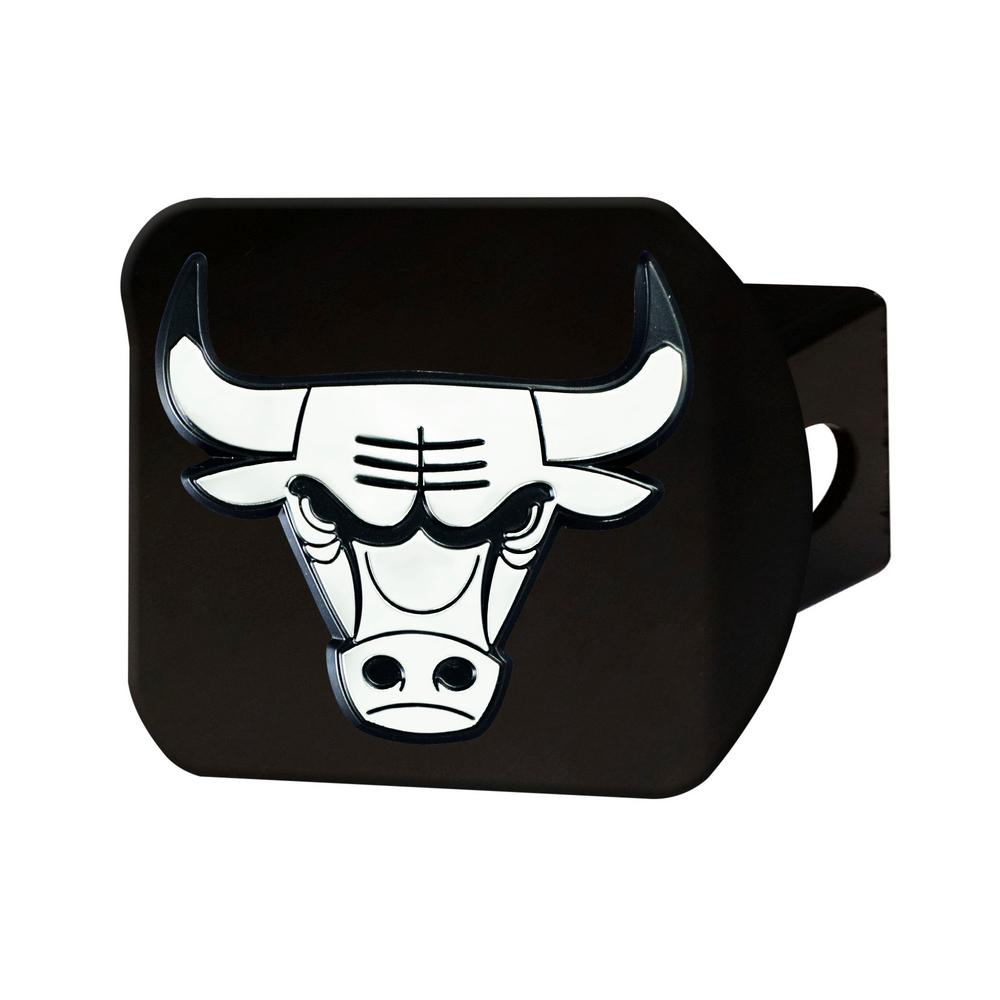 NBA Chicago Bulls Class III Black Hitch Cover with Chrome Emblem