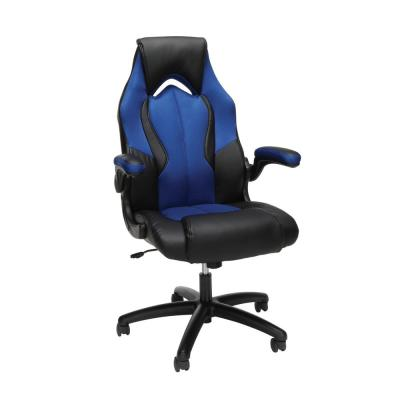 Essentials Collection Blue High-Back Racing Style Bonded Leather Gaming Chair (ESS-3086-BLU)