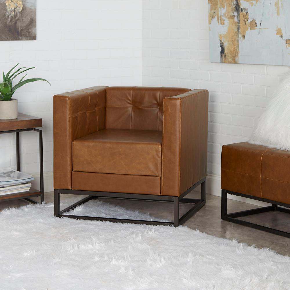 Leather Accent Chairs Metal Legs Caramel.Silverwood Furniture Reimagined Carraway Cognac Carmel Beige