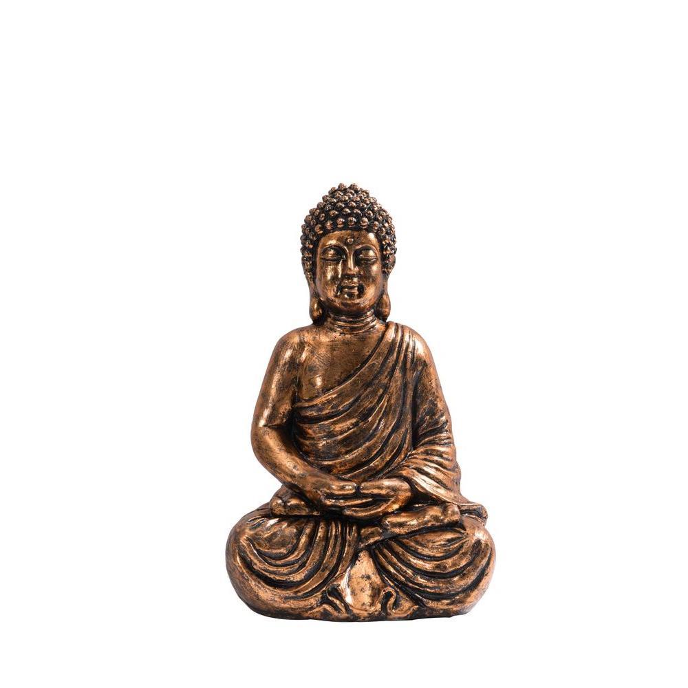 Sunjoy Sitting Buda Garden Statue 110301045 The Home Depot