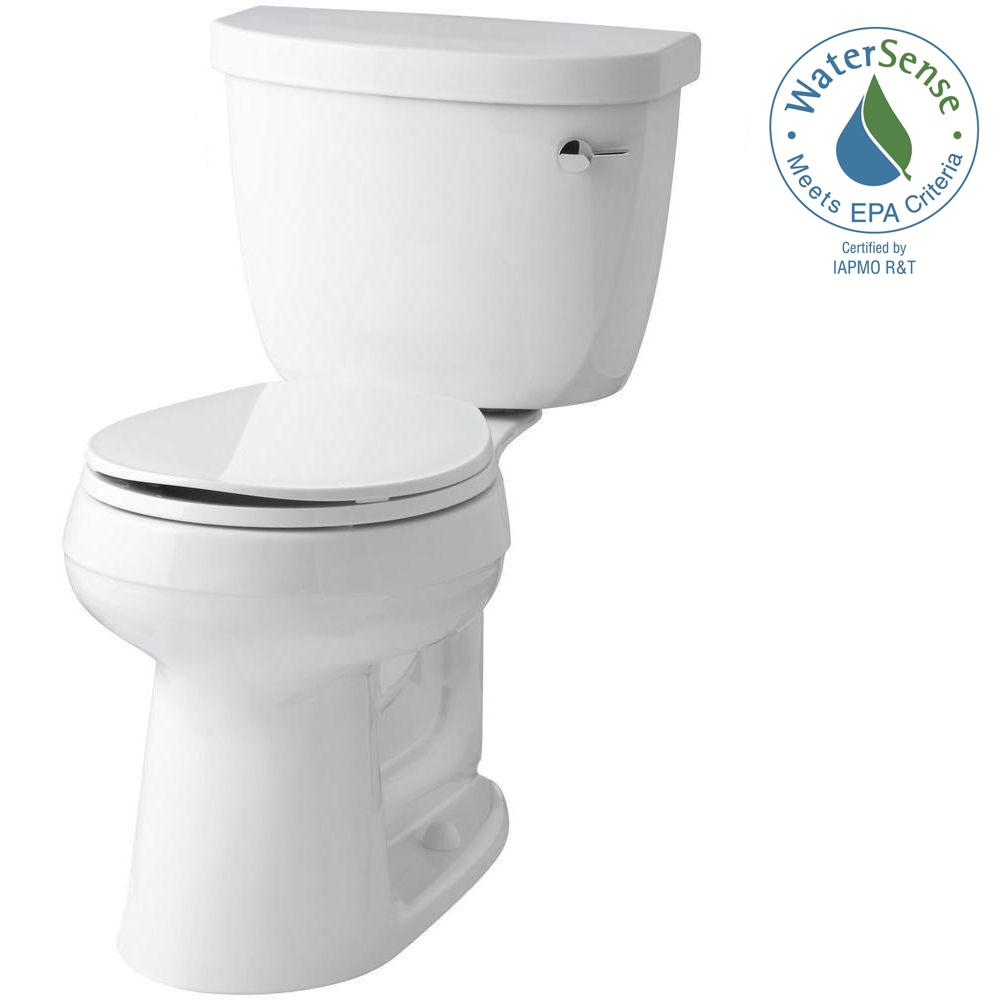Cimarron Comfort Height 2 Piece 1 28 Gpf Single Flush Round Toilet With