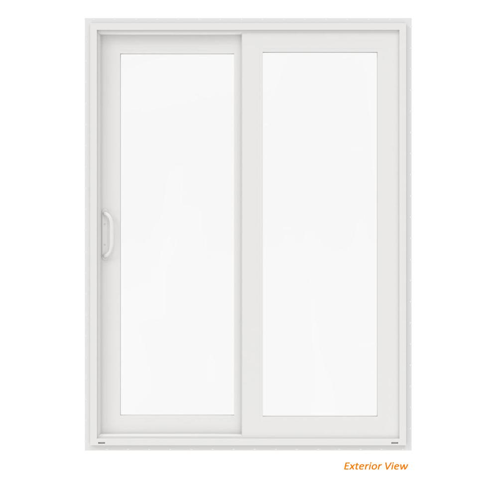Ordinaire This Review Is From:60 In. X 80 In. V 4500 White Vinyl Left Hand Full Lite  Sliding Patio Door