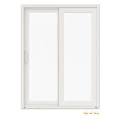 60 in. x 80 in. V-4500 White Vinyl Left-Hand Full Lite Sliding Patio Door